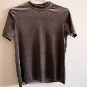 Grey Velvet Shirt